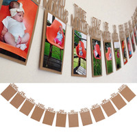 1- 12Months Baby' s 1st Birthday Photo Frame Bunting Bann...