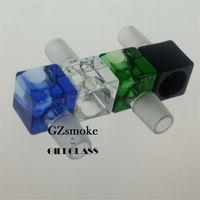 새로운 광장 두꺼운 남성 그릇에 다채로운 18.8 mm 남성 깔때기 그릇 유리 봉 헤드 봉 흡연 액세서리 hookahs shisha