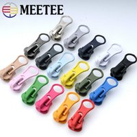 Meetee 5# Resin Zipper Head Thick Candy Color Zipper Pull Sl...