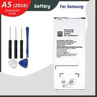 Samsung Galaxy A5 için Orijinal Pil 2016 Sürümü A510 A510F A5100 2900mAh EB-BA510ABE Telefon Yedek Piller