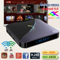 caixa de tv A95X caixa de tv 4G 32GB / 64GB S905X3 Chip 4k inteligente android com 5G Wifi Bluetooth Digital Display caja de Android TV