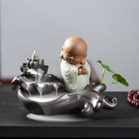 Keramik Räuchergefäß Räuchergefäß Aromatherapie Rauch Rückfluss Stick Räuchergefäß für Freund Geschenke Buddhistische Dekoration