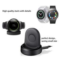 Nenhum carregador sem fio de carregamento do berço da doca do aquecimento para o relógio do esporte da engrenagem S4 S3 de Samsung com pacote de varejo do cabo de USB de alta qualidade