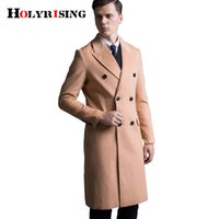 men Cashmere Coat Winter Casual Men Wool Trench Double Botto...