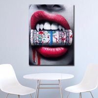 1 pezzo Wall Art Modulare Canvas Painting Women Blood Money HD Stampa Abstract Posters Immagini Cuadros Decoration No Frame