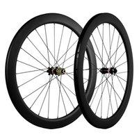 700C الفاصلة / لايحتاج / أنبوبي قرص الفرامل الكربون العجلات 55MM العمق العرض 25mm الكربون عجلات الدراجة الطريق UD ماتي عجلات Novatec محور 6 مسامير