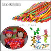 juguete 100% globos de látex 200 pedazos / porción La mezcla de globos de color boda fiesta de cumpleaños Decoración mágica baloon Surtido de globo de látex largo