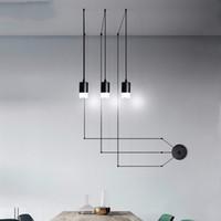 Simples modernos Luzes de suspensão Projeto Diy cabo longo pingente com ficha na sala de jantar sala de estar Restaurante Wall Hanging Lamp