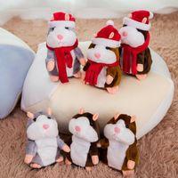 Reden Hamster Maus Haustier-Plüsch-Spielzeug Nette Speak Reden Tonaufzeichnung Hamster pädagogisches Spielzeug Weihnachten Kinder Geschenke 15 cm DW4480