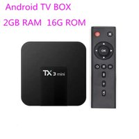 TX3 Mini Android 7.1 TV Boîte AMLOGIC S905W Quad Core 2GB 16GB 2.4g WiFi Media Player meilleur x96mini mxq pro