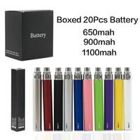EGO Bateria para cigarro E-cig eletrônico Ego-T jogo 510 Tópico CE4 atomizador CE5 clearomizer CE6 650mAh 900mAh 1100mAh 9 cores
