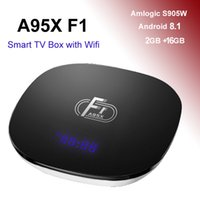 A95X F1 Android 8.1 TV Box da 2 GB 16 GB Amlogic S905W Quad Core Wifi TV Box 4K Streaming Media Player 2G Smart Mini PC
