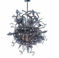 Luxury Art lámpara de cristal antiguo gris color Hand Blown la lámpara de cristal del accesorio ligero de la lámpara colgante de interior