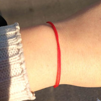 Hot 2019 Fashion Women' s Simple Thin Lucky Red String B...