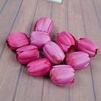 Pano Artificial Tulip Sala de estar Quarto Decoração Acessório Flores Vermelho Branco Azul Simulado Tulipas Venda Quente 0 6th L1