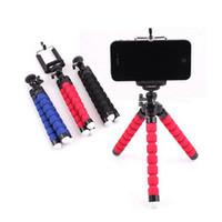 Tragbare Mini-Stativ für Telefon Flexible Sponge Octopus Mini-Stativ für iPhone Kamera-Stativ-Telefon-Halter-Klipp-Standplatz mit Telefon-Halter