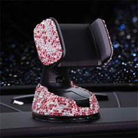 3 em 1 360 graus Car Phone Holder para o Painel do carro Auto Windows e Air Vent Cristal Diamante Bracket DHL Shipping