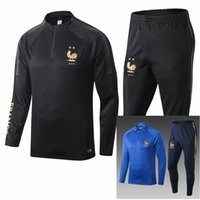 2 Star Thai 2018 France MBAPPE treino de futebol PAYET POGBA Fatos de atletismo jaqueta 2018 19 GRIEZMANN ternos de treino chandal roupas esportivas.