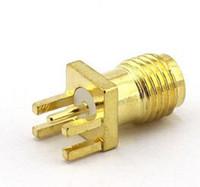 El más nuevo RP-SMA Conector hembra Soldadura de mamparo Montaje en PCB Conector RF RP SMA Adaptador de conector hembra Coaxial Coaxial