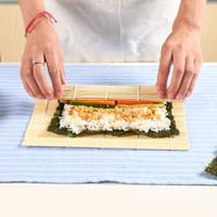 20 Set Sushi Rolling Mat Sushi Sushi Giapponese Sushi Stampo Pad con cucchiaio Strumento di rolling a sfera di riso con set di pagaia di riso