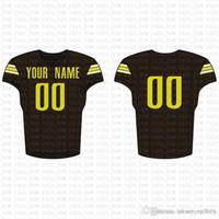 2019 New Custom Football Jersey alta qualidade Mens frete grátis bordado Logos 100% superior costurado venda c20