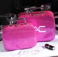 Sac cosmétique sacs de maquillage portable PU Femmes maquillage Cas de stockage Voyage Sac de lavage grand de petite taille Grossiste avec marque M
