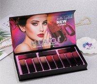 Nuovo HUDMOJI 12 colori HUDAMOJI opaco rossetto tavolozza crema labbro di trucco cosmetici di lunga durata in edizione limitata lip gloss