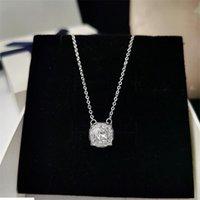 Классическая мода ювелирные изделия настоящий 925 стерлингового серебра серебро снежок круглый срез белый топаз повезло вечеринка обещание женщины свадебные ключицы ожерелье