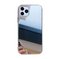 Покрытие Гальваника Зеркало Жесткий чехол для iPhone 11 Pro Max XS Max XR XS X 8 7 6 Составляют крышка телефона