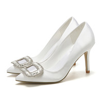 Новые Белый Шелк Свадебная обувь Кристалл Украшенные Люкс обуви Женская Пром Pump дамы вечер пяток 7см 9см Размер 34-41 свободная перевозка груза