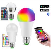 Akıllı Ev Yaşamı LED ışığı WiFi Ampul E27 RGBW 5w 10w 15w Akıllı Lambası Müzik Bluetooth 4.0 APP Kontrol / IR Uzaktan Kumanda Ev Aydınlatma