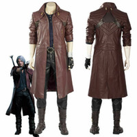 Devil May Cry V DMC5 Dante Aged Outfit Costume Cosplay Coat ...