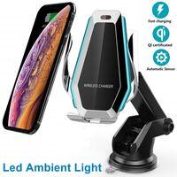 Qualité Smart Sensor Wireless Chargeur P10 PC + ABS Matériel avec rotation Réglage chargeur sans fil Rencontrez QI Compatiable pour Andriod iPhone