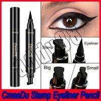 2019 Cmaadu Nouvelle Marque Liquid Eye Liner Crayon Maquillage Pour Les Yeux Crayon Étanche Noir Double Terminé Maquillage Fard À Paupières Timbre Eyeliner Crayon