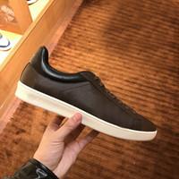 Mektupları spor ayakkabı tasarımcısı adam iskarpin% 100 Baskılı deri bağcıklı lüks kadın ayakkabı siyah kahverengi koç erkekler Bayanlar Düz ayakkabı boyutu 35-45
