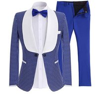 Популярные народные кнопки Groomsmen Shawle Щит (куртка + брюки + галстук) жених смокинги жениха лучший мужской костюм мужские свадебные костюмы Bridegroom A220