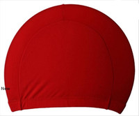 Mens Süßigkeit Farben Badekappen Unisex Nylongewebe Erwachsener Dusche Caps wasserdicht Badekappen fester Schwimmen Hut LJJA3841
