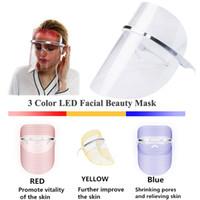 Yüz Maskesi Cilt Gençleştirme LED Işık Terapi yaşlanma karşıtı akne Güzellik makinesinde Foton 3 Renkler