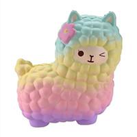 Pudcoco 1Pcs do arco-íris 12 centímetros Jumbo mole Alpaca Galaxy Super Slow Nascente creme perfumado Sky Animais Brinquedos