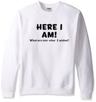 Sweatshirt Here I Am Printed 2019 Spring Winter O- neck Men S...