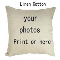 45 * 45 cm Funda de almohada de sofá personalizada Imagen aquí Imprimir Mascota Boda Vida personal Fotos Personalizar Regalo Funda de cojín para el hogar Funda de almohada