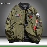 Men Bomber Pilot Jacket Hip Hop 2020 Spring New Men' s B...