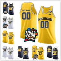 Custom NCAA Michigan Wolverines 13 Moritz Wagner 1 Charles Matthews 22 Duncan Robinson Stitched Final Four College Baskey Jersey