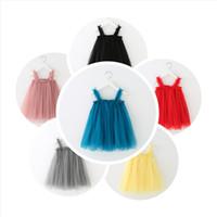 Девушки слинг платье новый летний стиль дети кружева твердые Принцесса платье одежда малыш пачка юбки для девочки ткань дети суспендер юбка