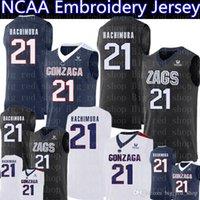 21 Rui Hachimura Jersey 2019 NCAA Gonzaga Bulldogs College Basketball Trikots marineblau schwarz weiß Stickerei Logos