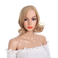 Natürliche Webart kurze Perücke Kunsthaar Perücken für Frauen Premium-Japanische Faser kurze gemischte Damen Perücke