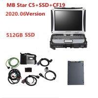 2020 nova chegada Diagnostic-ferramenta MB ESTRELA C5 com CF-19 Toughbook laptop 4g prazo Fast RAM instalada 512gb ssd para Mercedes Benz
