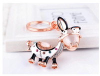 2019 High Quality Animal Donkey Crystal Metal alloy Keyring ...