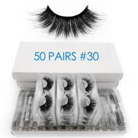 50 pairs wholesale mink eyelashes bulk fluffy 3d lashes 100%...