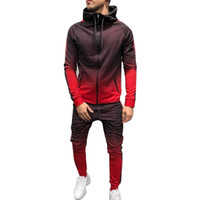 Puimentiua Zipper Tracksuit Men Set Sporting 2 Pieces Sweats...